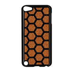 Hexagon2 Black Marble & Rusted Metal Apple Ipod Touch 5 Case (black) by trendistuff