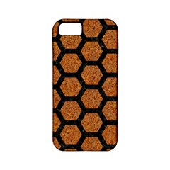 Hexagon2 Black Marble & Rusted Metal Apple Iphone 5 Classic Hardshell Case (pc+silicone) by trendistuff