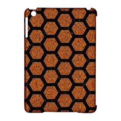 Hexagon2 Black Marble & Rusted Metal Apple Ipad Mini Hardshell Case (compatible With Smart Cover) by trendistuff