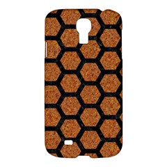 Hexagon2 Black Marble & Rusted Metal Samsung Galaxy S4 I9500/i9505 Hardshell Case by trendistuff