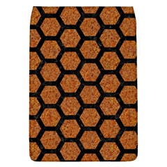 Hexagon2 Black Marble & Rusted Metal Flap Covers (l)  by trendistuff