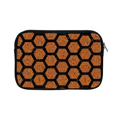 Hexagon2 Black Marble & Rusted Metal Apple Ipad Mini Zipper Cases
