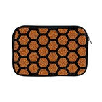 HEXAGON2 BLACK MARBLE & RUSTED METAL Apple iPad Mini Zipper Cases Front