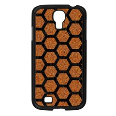Hexagon2 Black Marble & Rusted Metal Samsung Galaxy S4 I9500/ I9505 Case (black) by trendistuff