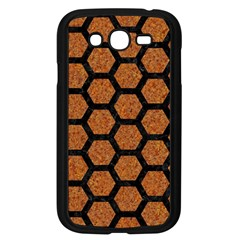 Hexagon2 Black Marble & Rusted Metal Samsung Galaxy Grand Duos I9082 Case (black) by trendistuff