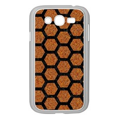 Hexagon2 Black Marble & Rusted Metal Samsung Galaxy Grand Duos I9082 Case (white) by trendistuff