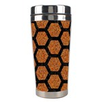 HEXAGON2 BLACK MARBLE & RUSTED METAL Stainless Steel Travel Tumblers Center