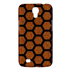 Hexagon2 Black Marble & Rusted Metal Samsung Galaxy Mega 6 3  I9200 Hardshell Case by trendistuff