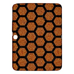 Hexagon2 Black Marble & Rusted Metal Samsung Galaxy Tab 3 (10 1 ) P5200 Hardshell Case  by trendistuff