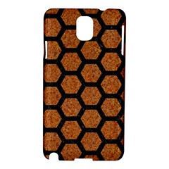 Hexagon2 Black Marble & Rusted Metal Samsung Galaxy Note 3 N9005 Hardshell Case by trendistuff