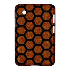 Hexagon2 Black Marble & Rusted Metal Samsung Galaxy Tab 2 (7 ) P3100 Hardshell Case  by trendistuff