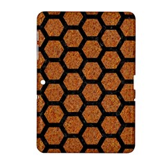 Hexagon2 Black Marble & Rusted Metal Samsung Galaxy Tab 2 (10 1 ) P5100 Hardshell Case  by trendistuff