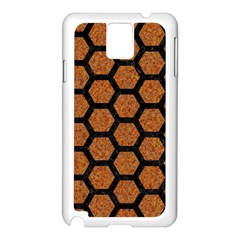 Hexagon2 Black Marble & Rusted Metal Samsung Galaxy Note 3 N9005 Case (white) by trendistuff