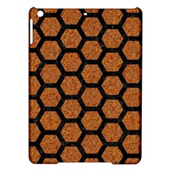 Hexagon2 Black Marble & Rusted Metal Ipad Air Hardshell Cases by trendistuff