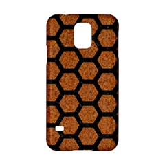 Hexagon2 Black Marble & Rusted Metal Samsung Galaxy S5 Hardshell Case  by trendistuff