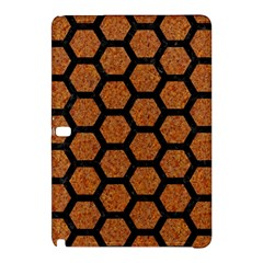 Hexagon2 Black Marble & Rusted Metal Samsung Galaxy Tab Pro 12 2 Hardshell Case by trendistuff