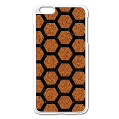 Hexagon2 Black Marble & Rusted Metal Apple Iphone 6 Plus/6s Plus Enamel White Case by trendistuff