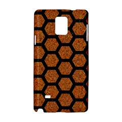 Hexagon2 Black Marble & Rusted Metal Samsung Galaxy Note 4 Hardshell Case by trendistuff