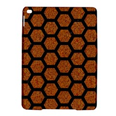 Hexagon2 Black Marble & Rusted Metal Ipad Air 2 Hardshell Cases by trendistuff