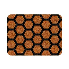 Hexagon2 Black Marble & Rusted Metal Double Sided Flano Blanket (mini)  by trendistuff