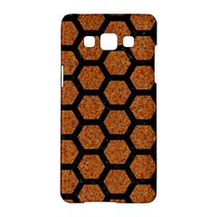 Hexagon2 Black Marble & Rusted Metal Samsung Galaxy A5 Hardshell Case  by trendistuff