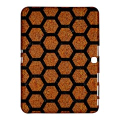 Hexagon2 Black Marble & Rusted Metal Samsung Galaxy Tab 4 (10 1 ) Hardshell Case  by trendistuff