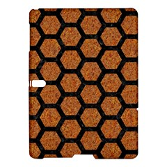 Hexagon2 Black Marble & Rusted Metal Samsung Galaxy Tab S (10 5 ) Hardshell Case  by trendistuff