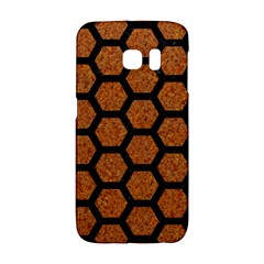 Hexagon2 Black Marble & Rusted Metal Galaxy S6 Edge by trendistuff
