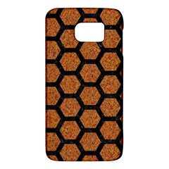 Hexagon2 Black Marble & Rusted Metal Galaxy S6 by trendistuff