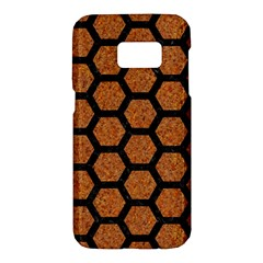 Hexagon2 Black Marble & Rusted Metal Samsung Galaxy S7 Hardshell Case  by trendistuff