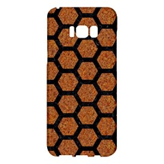 Hexagon2 Black Marble & Rusted Metal Samsung Galaxy S8 Plus Hardshell Case  by trendistuff