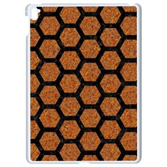 Hexagon2 Black Marble & Rusted Metal Apple Ipad Pro 9 7   White Seamless Case by trendistuff