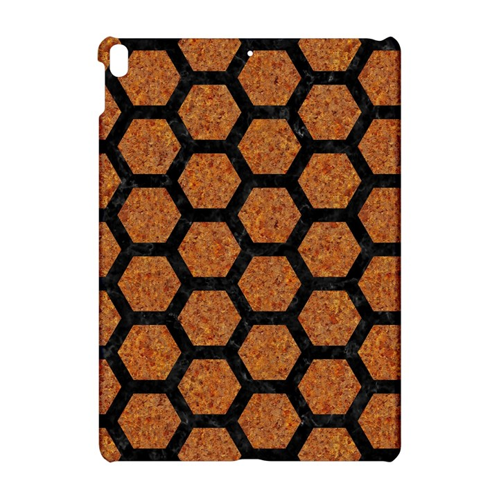 HEXAGON2 BLACK MARBLE & RUSTED METAL Apple iPad Pro 10.5   Hardshell Case
