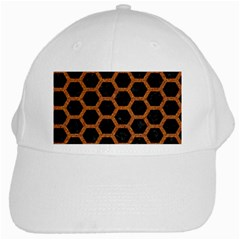 HEXAGON2 BLACK MARBLE & RUSTED METAL (R) White Cap