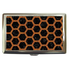 HEXAGON2 BLACK MARBLE & RUSTED METAL (R) Cigarette Money Cases