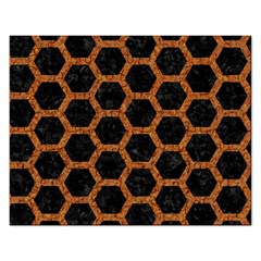 HEXAGON2 BLACK MARBLE & RUSTED METAL (R) Rectangular Jigsaw Puzzl