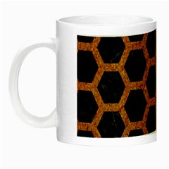 HEXAGON2 BLACK MARBLE & RUSTED METAL (R) Night Luminous Mugs