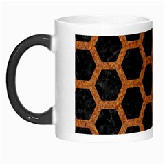 HEXAGON2 BLACK MARBLE & RUSTED METAL (R) Morph Mugs
