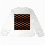 HEXAGON2 BLACK MARBLE & RUSTED METAL (R) Kids Long Sleeve T-Shirts Back