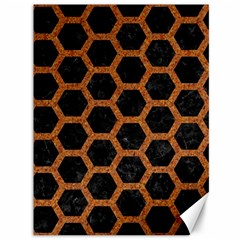 HEXAGON2 BLACK MARBLE & RUSTED METAL (R) Canvas 36  x 48