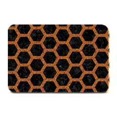 HEXAGON2 BLACK MARBLE & RUSTED METAL (R) Plate Mats