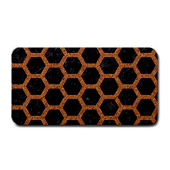 HEXAGON2 BLACK MARBLE & RUSTED METAL (R) Medium Bar Mats
