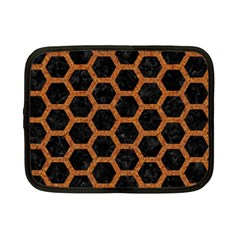 HEXAGON2 BLACK MARBLE & RUSTED METAL (R) Netbook Case (Small)