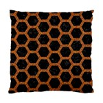 HEXAGON2 BLACK MARBLE & RUSTED METAL (R) Standard Cushion Case (One Side) Front