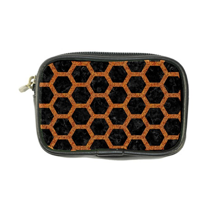 HEXAGON2 BLACK MARBLE & RUSTED METAL (R) Coin Purse