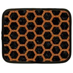 HEXAGON2 BLACK MARBLE & RUSTED METAL (R) Netbook Case (XL)  Front