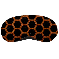 HEXAGON2 BLACK MARBLE & RUSTED METAL (R) Sleeping Masks
