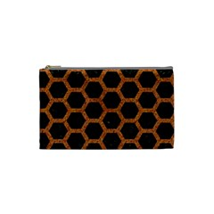 HEXAGON2 BLACK MARBLE & RUSTED METAL (R) Cosmetic Bag (Small)