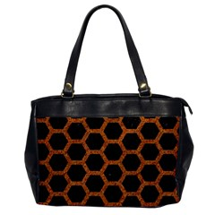 HEXAGON2 BLACK MARBLE & RUSTED METAL (R) Office Handbags
