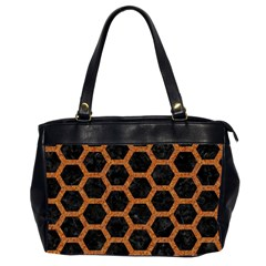 HEXAGON2 BLACK MARBLE & RUSTED METAL (R) Office Handbags (2 Sides)